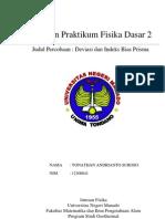 Laporan Praktikum Fisika Dasar II - DEVIASI DAN INDEKS BIAS PRISMA