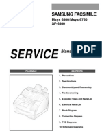 samsung sf6800 Service manual