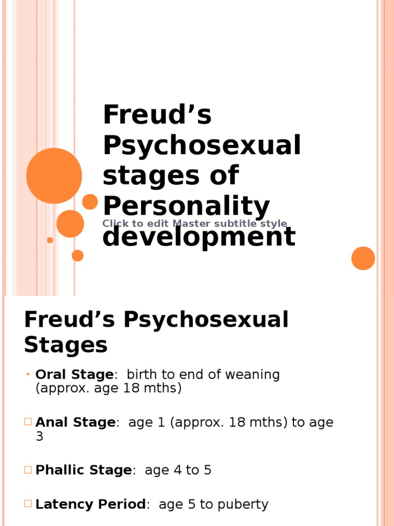 Psychosexual disorders in adults phallic
