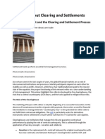 A Primer About Clearing and Settlements