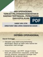 DEFINISI OPERASIONAL DTPK
