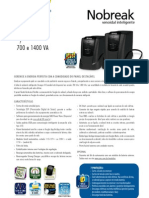 Catalogo de Nobreak SMS Manager III Senoidal 700 e 1400 VA (23200 110417)