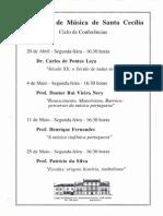 Conferencia na Academia Santa Cecilia 1998