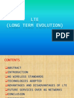 A presentation on LTE ( Long Term Evolution)