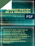 Administracion de La Educacio Para Sacar