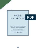 1303_Mord an Apollo_Dada als europäischer Kultur-Anachronismus