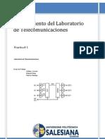 PRACTICA 1 Equipamiento Del Laboratorio de Telecomunicaciones