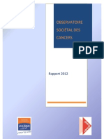 Observatoire Societal Cancers Rapport 2012