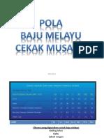 Pola Baju Melayu Cekak Musang