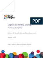 Digital Marketing Plan Template Smart Insights