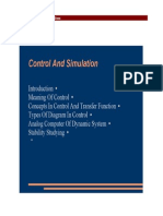 Control and Simulation