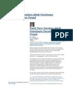David Stern Investors Admit Foreclosure Documents Were Forged