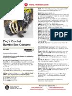 Dog's Crochet Bumble Bee Costume