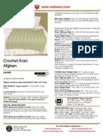 Crochet Aran Afghan