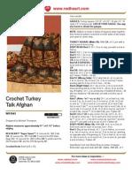 Crochet Turkey Talk Afghan