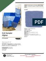 Knit Sampler Afghan