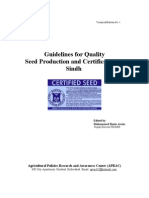 Guidelines for Quality Seed Production and Certification