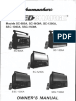 Schumacher Speed Charge Owner's Manual - Models SC-600A, SC-1000A, SC-1200A, SSC-1000A, SSC-1500A