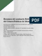 Resúmenes. Retóricas del Género/ Políticas de Identidad