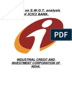 Swot of ICICI Bank