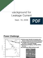 Leakage Current Basic