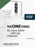 The ONE Thing DIY Presentation