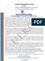 UFRC Press Release  n°004-HC-UFRC-2013