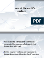 Chemical Reaction in Earth Surface