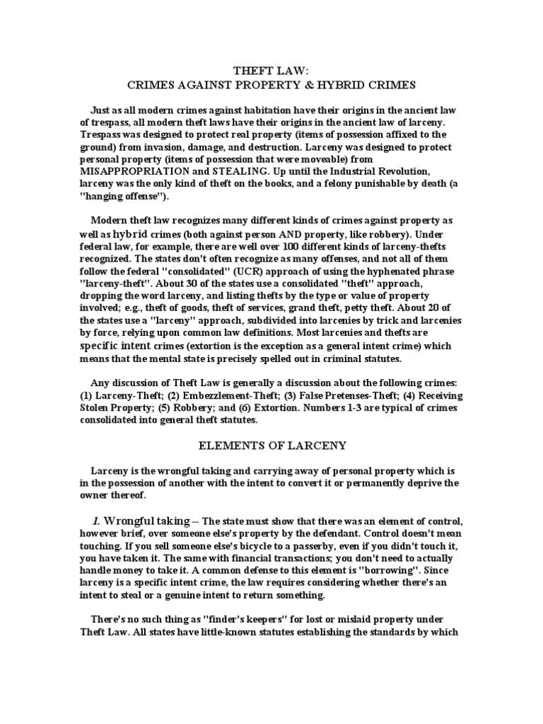 theft law | larceny | theft