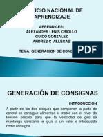 No1 GENERACIÓN DE CONSIGNAS