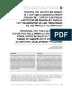 Propuesta Cultivo Hongo Pleurotus Lentinula Edodes