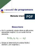 Tehnici de Programare Triere