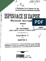 Gh. Ghibanescu - Ispisoace Si Zapise 5.1 (1694-1826)