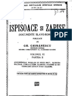 Gh. Ghibanescu - Ispisoace Si Zapise 6.2 (1643-1831)