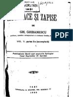 Gh. Ghibanescu - Ispisoace Si Zapise 5.2 (1694-1817)