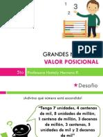5º básico Matemática ppt Grandes Números, Valor posicional + descomposición 06.06