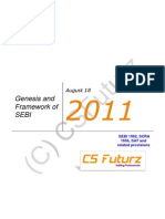 Genesis and Framework of SEBI