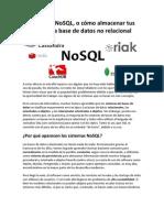 El Concepto NoSQL