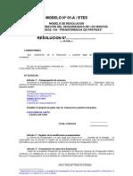 Modelos Res Modificaciones 2012