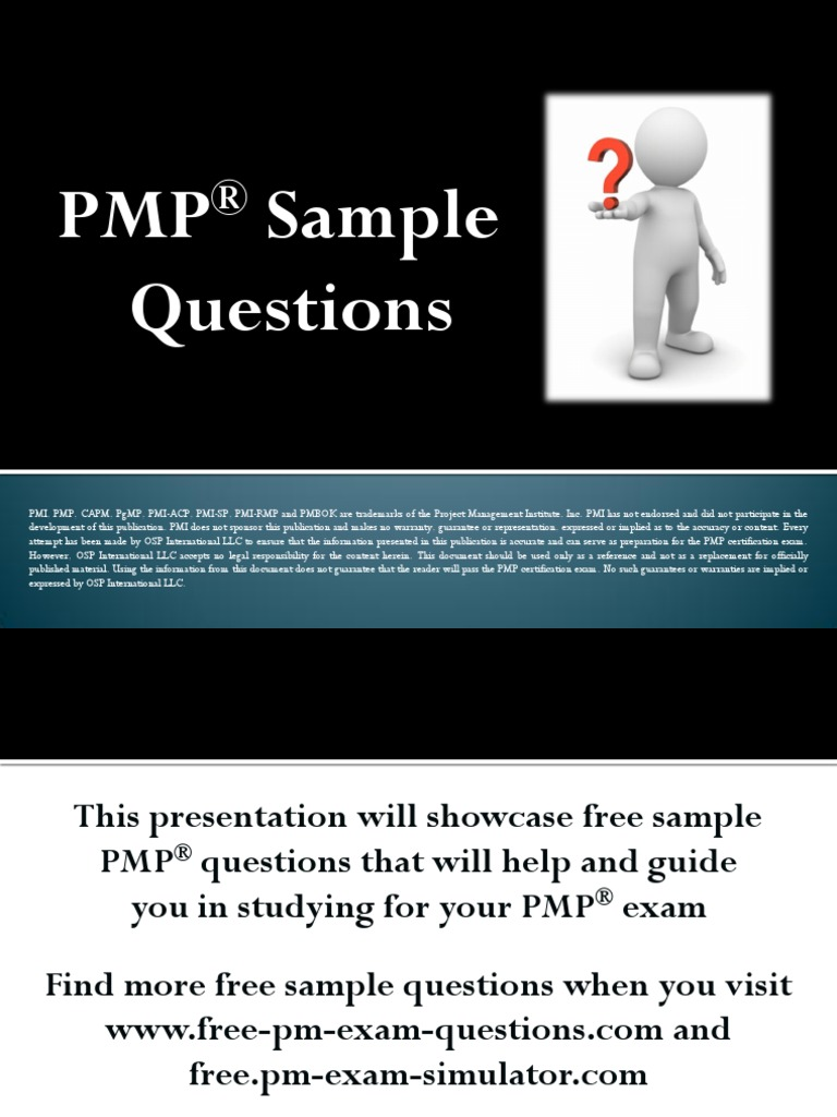 Pmp Sample Questions Set 3 Project Management Professional