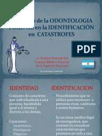 Odontologia Forense en Catastrofes