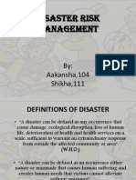 Disaster Management Ppt NEW