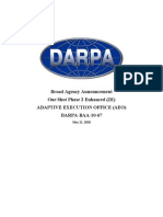 DARPA-BAA-10-67 One Shot Phase 2E Final for Posting 21May10