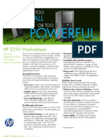 HP Z210 Workstations - Especif
