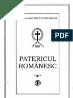 Ioanichie Balan - Patericul Romanesc PDF si FULL TEXT (2005)