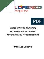 Comanda Motoarelor Electrice Asincron Cu Rotorul Bobinat