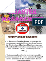 Disaster Management Ppt