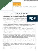 Best Books for IIT JEE Preparation - AskIITians