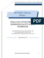Polls on Attitudes on Homosexuality & Gay Marriage