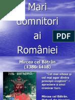 Istorie - Mari Domnitori Romani